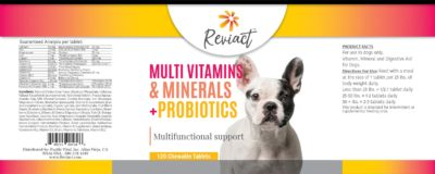 Reviact™ Canine Multi Vitamins, Minerals and Probiotics